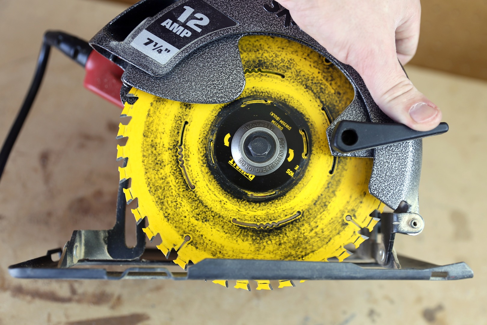 The Plate Of A Circular Saw Can Be Raised And Lowered To Expose More Or  Less Of The Blade. The Plate Height Can Be Adjusted By Releasing A Tension  Lever On ...