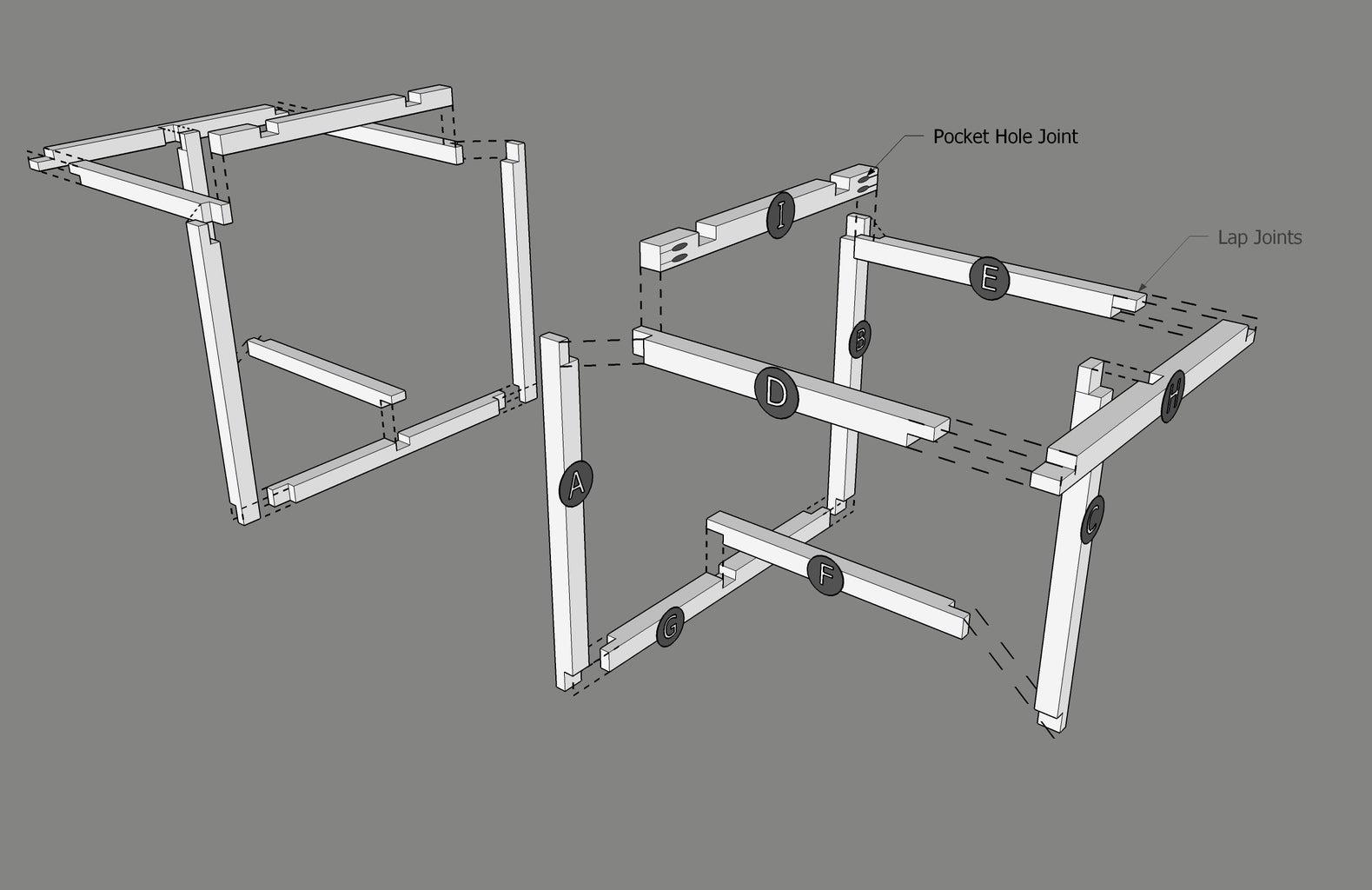Assemble the Table Frame