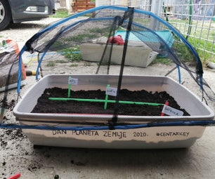 DIY Recycled Mini Greenhouse