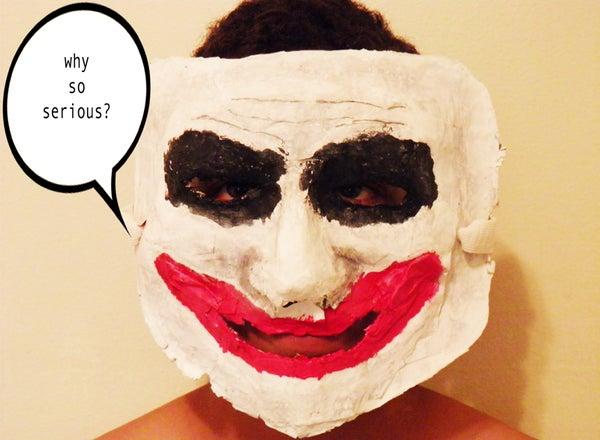 Paper Mache Joker Mask