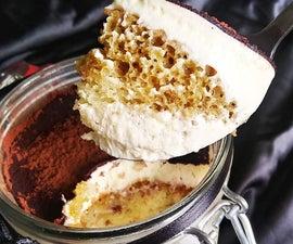 CakeTiramisu in Mason Jars