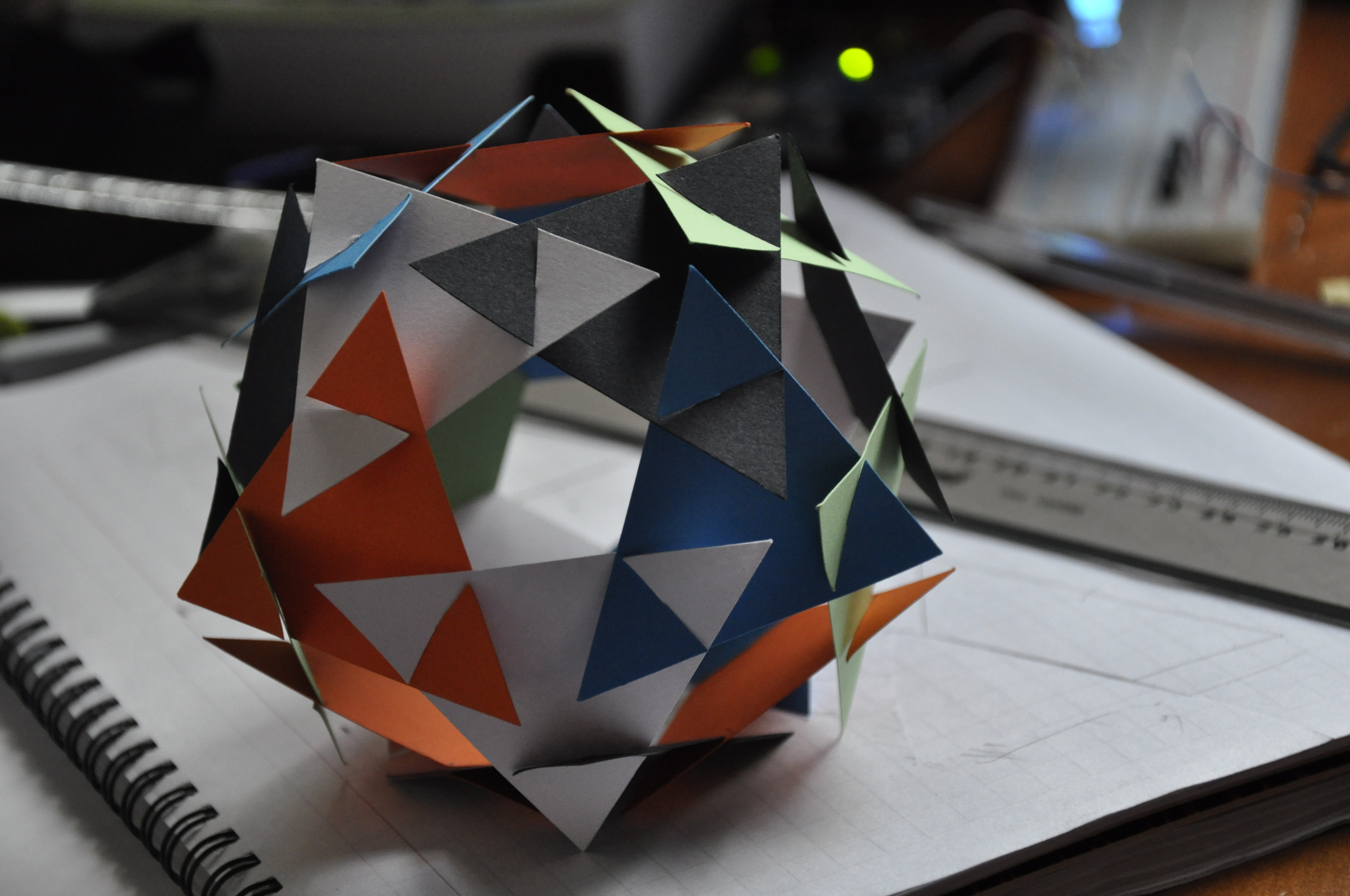 Modular Paper dodecahedron