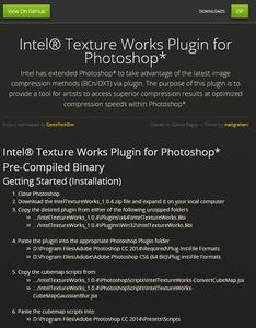 Setup: Installing Intel Texture Works Plugin
