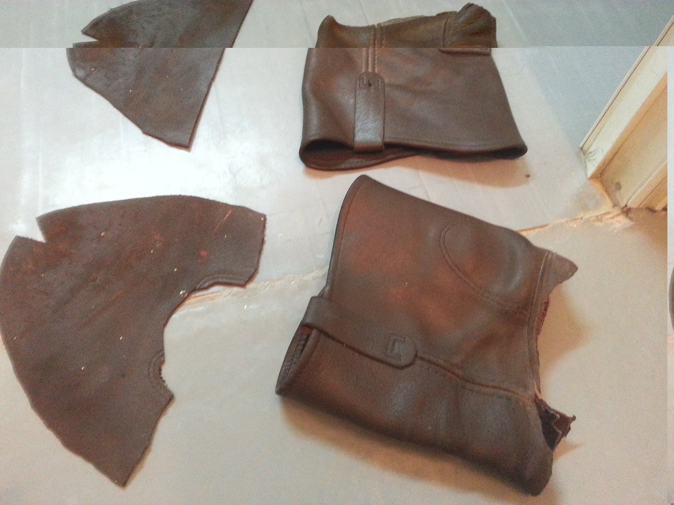 Harvesting and Cleaning the Leather