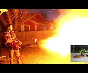 DIY Dry Powder/Dust Flame Thrower (Dust Explosion)