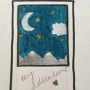 Polaroid Space Drawing