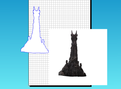 Create a Cad File of the Outline of Barad-Dur