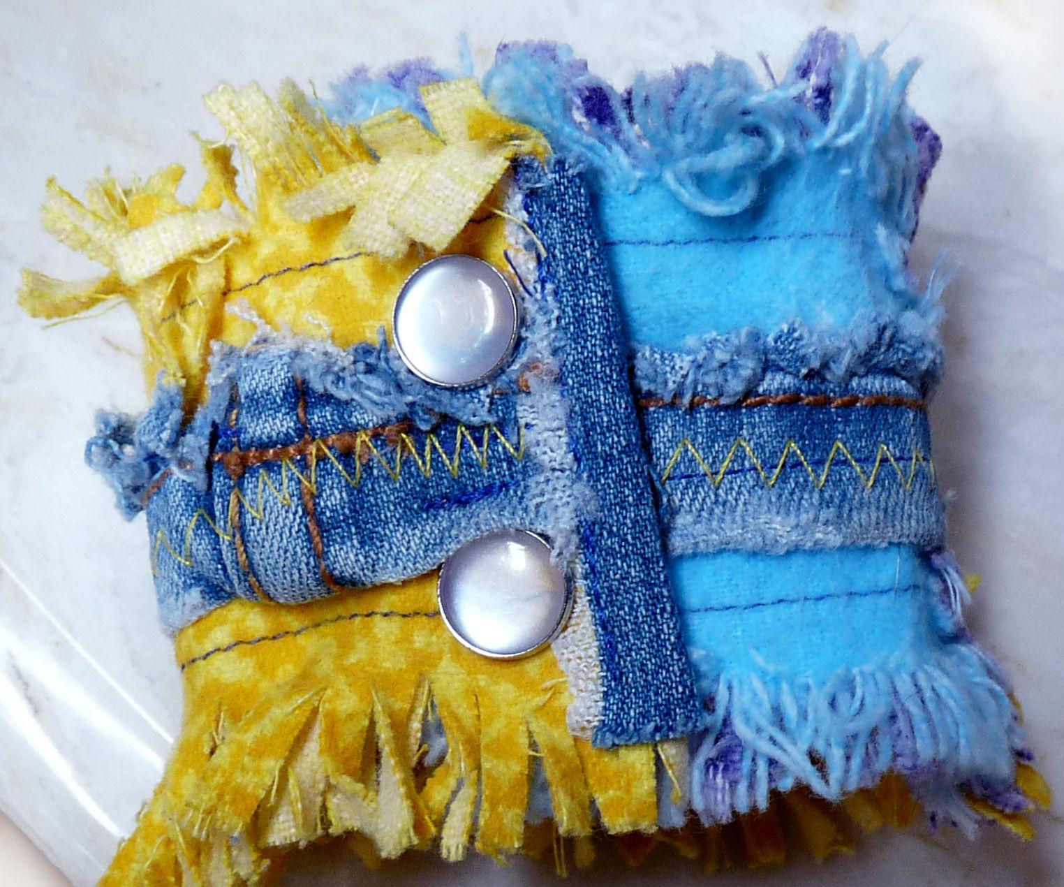 Upcycle Fabric Cuff