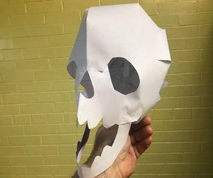 Easy Paper Skull