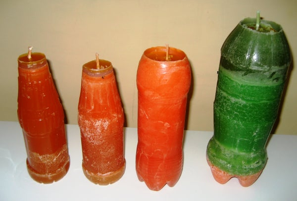 Reuse Plastic Bottles and Old Candles to Make New Candles