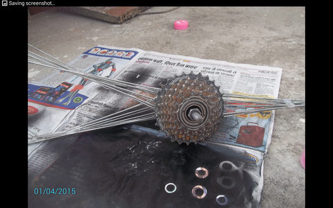 Painting Other Part of the Tire.
