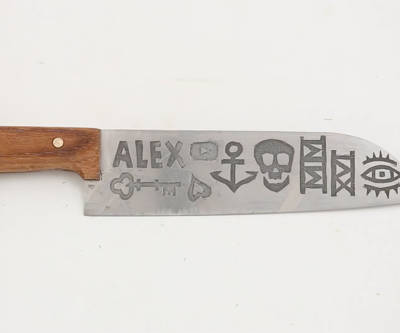 How To Tattoo a Knife Blade w/ (Proper) Metal Etching