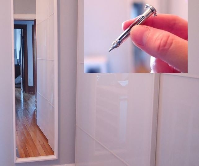 Hanging Heavy Mirror On Plaster Walls, How To Mount A Mirror On Hollow Door
