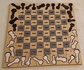 Laser Cut Playable Chess Puzzle