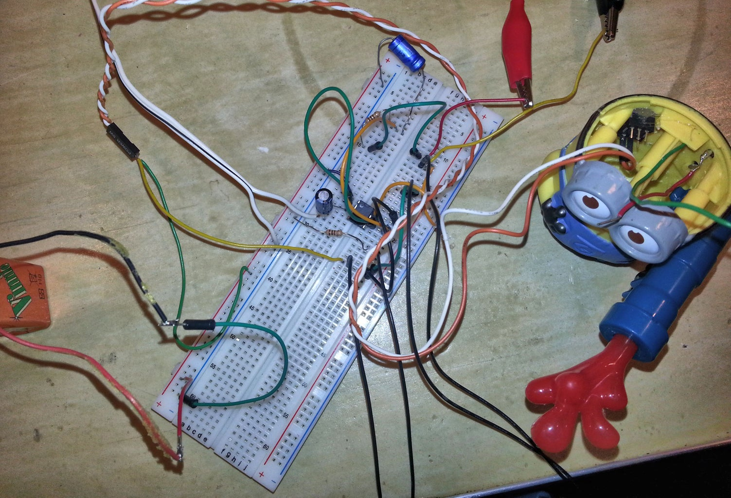 Create the Slider Synth Circuit on Breadboard
