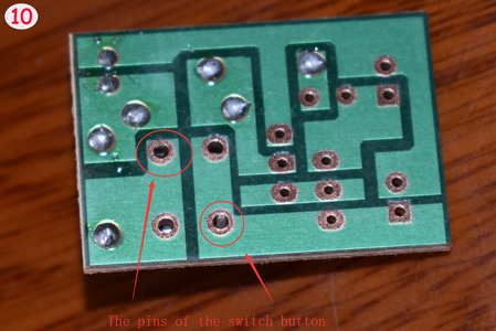 Solder the Switch Button Into the PCB