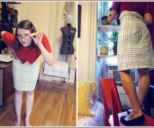 Pillowcase Pencil Skirt Tutorial