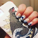 """Paint """"The Great Wave of Kanagawa"""" on Your Nails"""