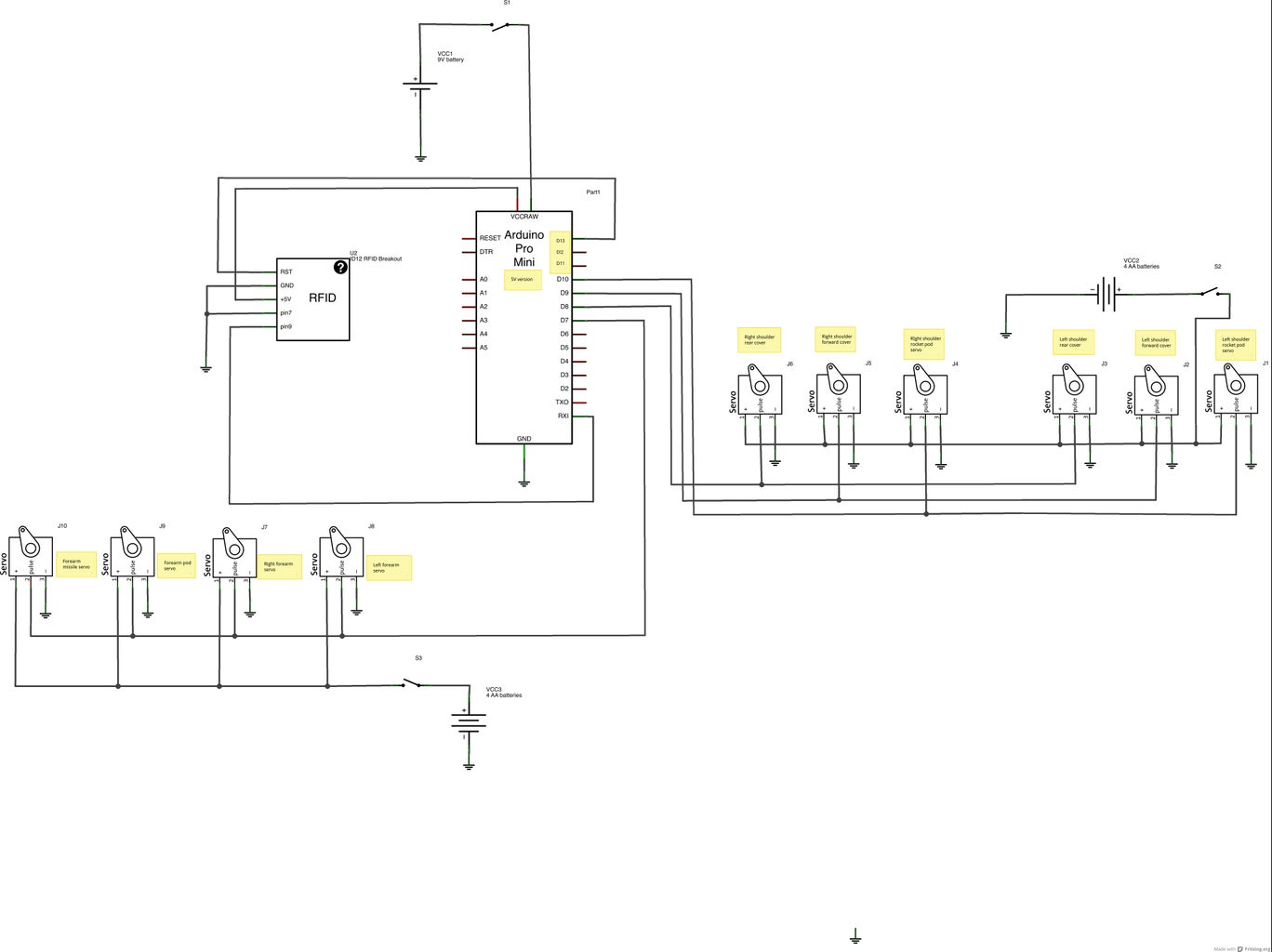 Electronics- Right Side Schematics and Code
