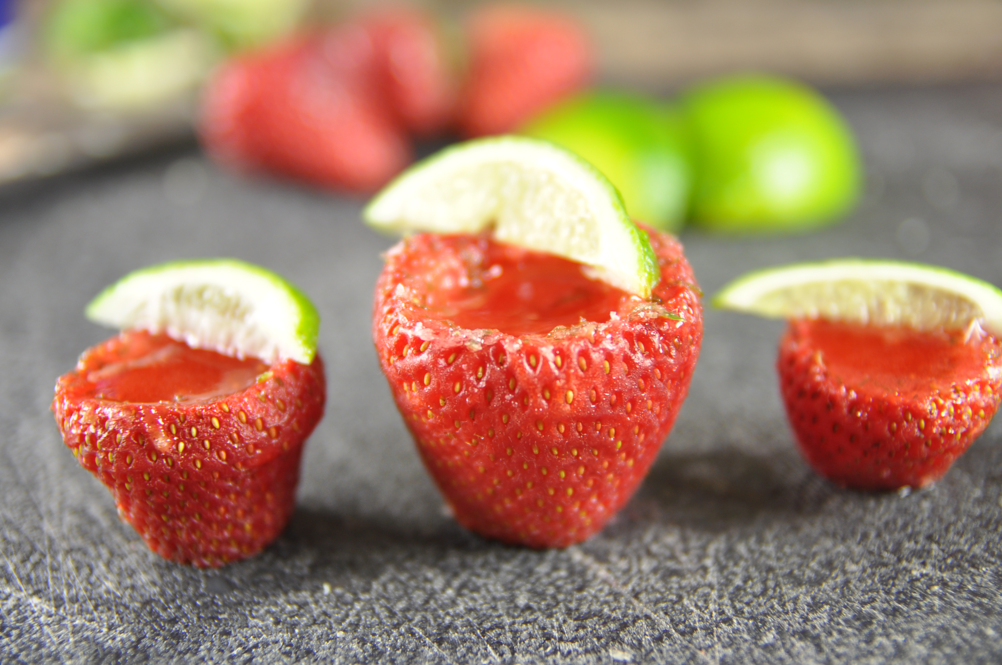 Vegan Strawberry Margarita Shots (Cinco de Mayo)