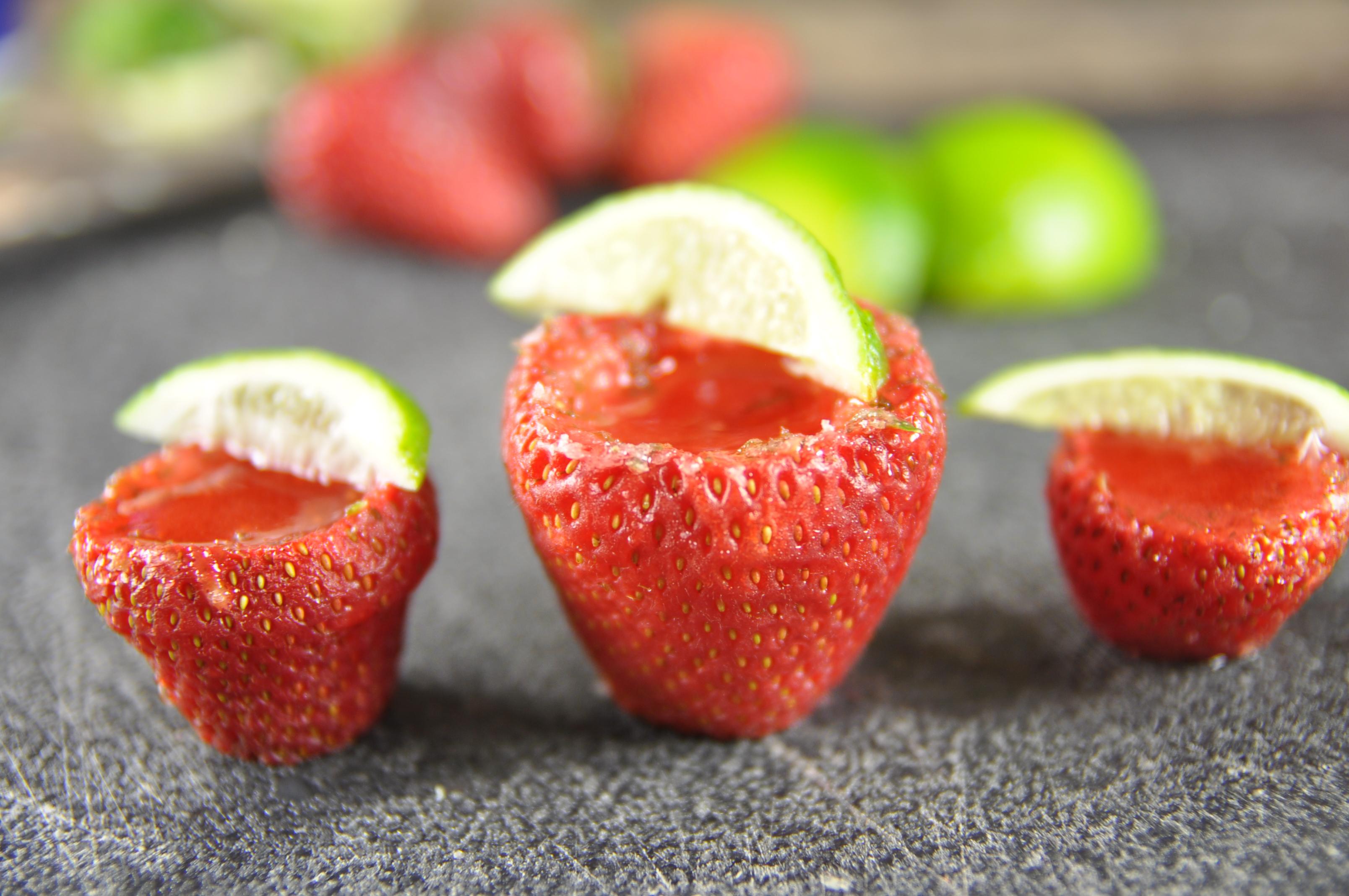 Vegan Strawberry Margarita Shots (Cinco de Mayo)
