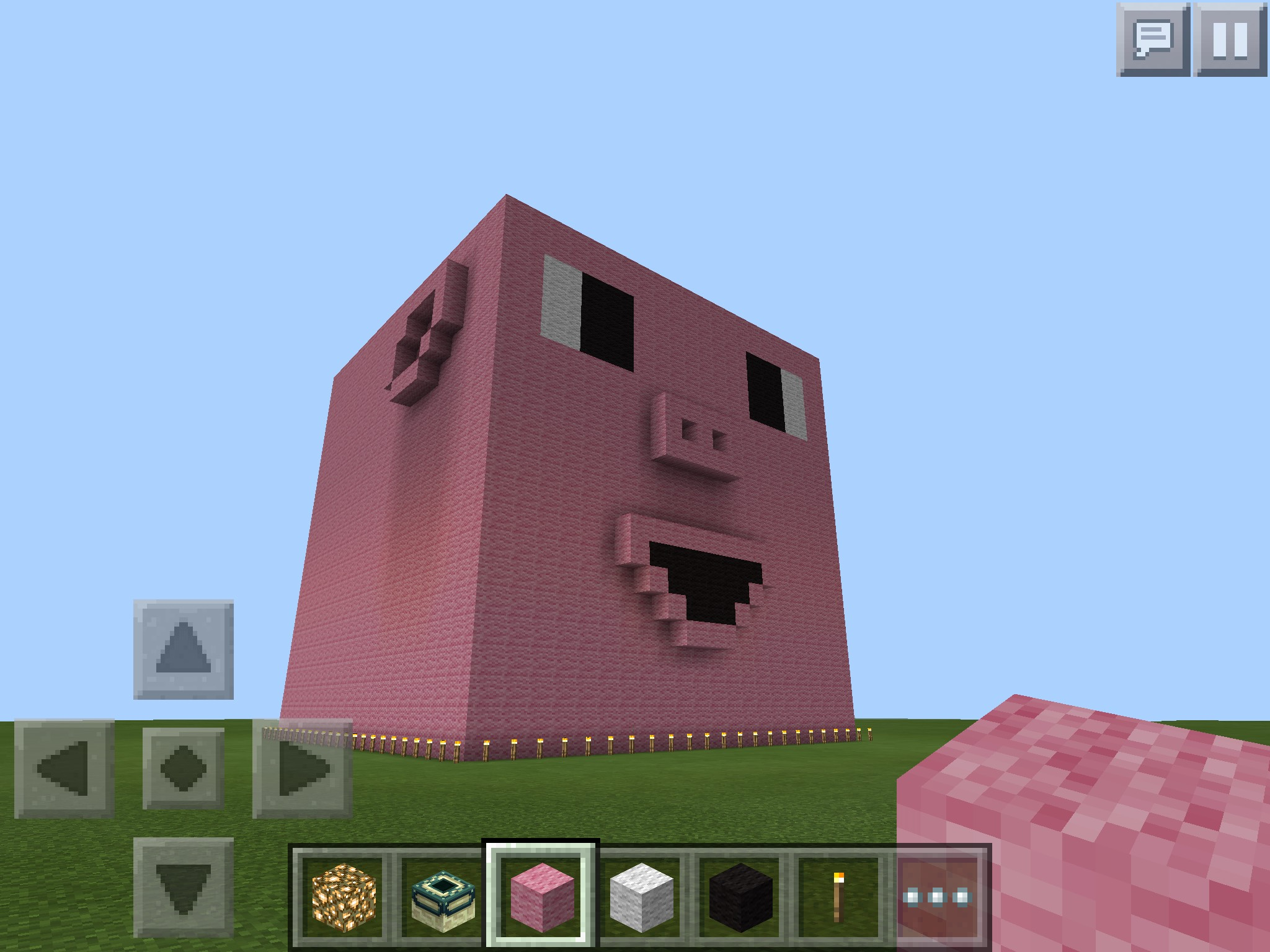 Giant Minecraft Cute Pig Head