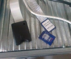 A Flying SD Card Socket for the Da Vinci 1.0 3D Printer