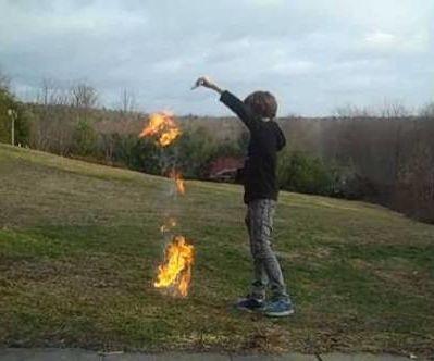 Coffee creamer flame thrower
