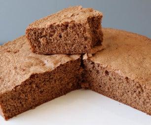4个成分巧克力海绵蛋糕
