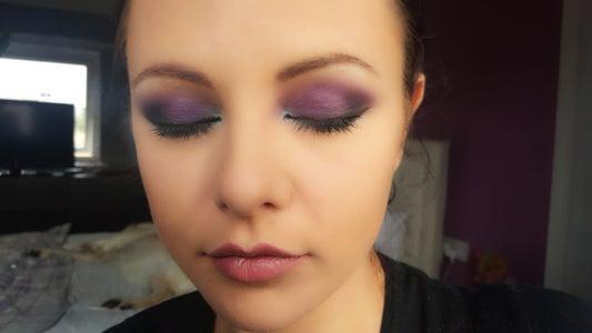 Clubbing Purple Eye Makeup Look