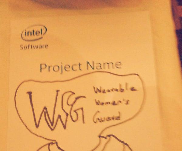 Wearable Womens Guard (Intel IOT)