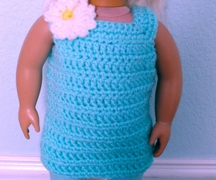 Cute Crocheted American Girl Doll Dress