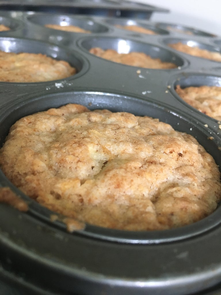 Fill Your Muffin Tin With the Batter. (The Batter Filling 1/2- 2/3 of the Space Available) Place in Preheated Oven at 350 Degrees for 30-32 Minutes.