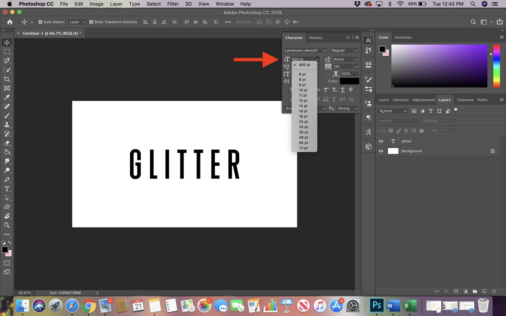 Adjust Font