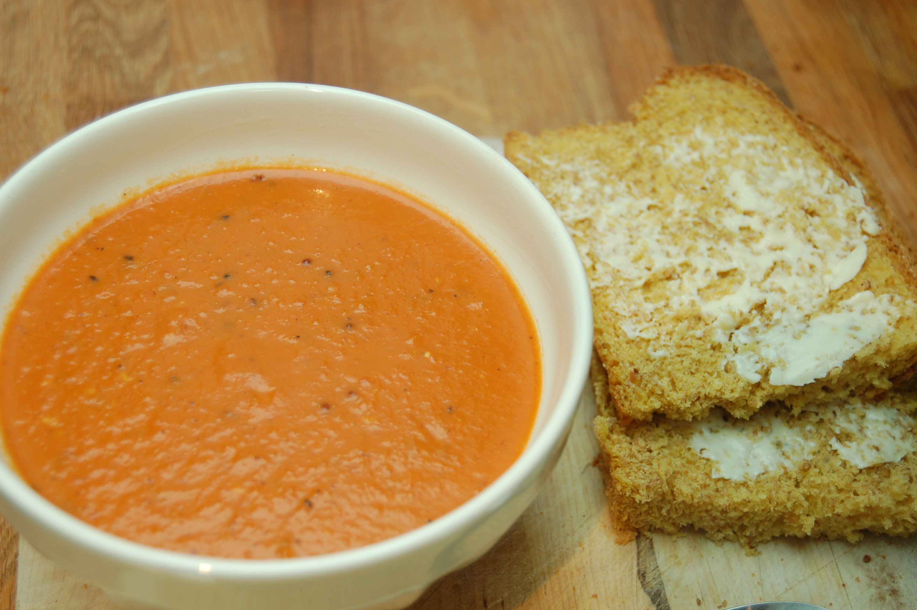 spicy tomato coconut soup