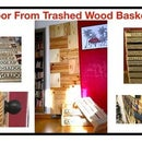 Door From Trashed Wood Baskets