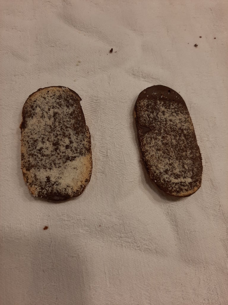 Cut the Top Off of Two Milano Cookies