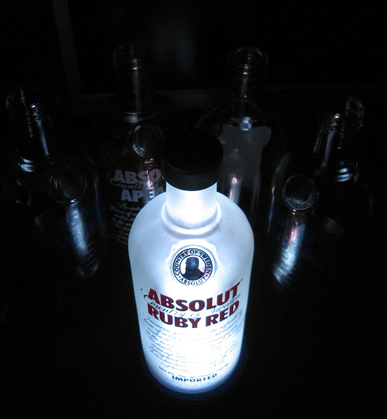 How to make a Vodka Lamp (or any other booze bottle light up)