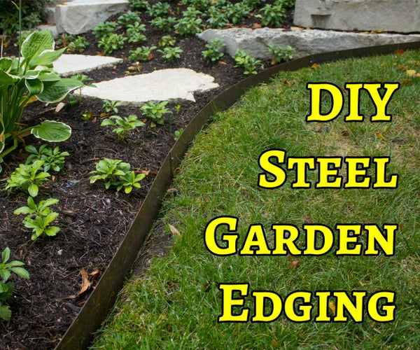 DIY Hammer-In Steel Garden Edging