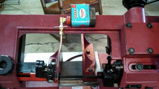 Gravity Fed, Drip Oiler for a Horizontal Bandsaw