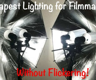 Cheapest LED Lighting for Filmmaking Without Flickering!