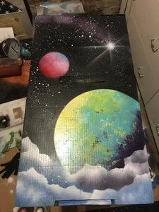 Easy Planet Spray Paint Art