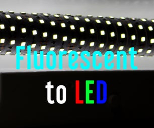 Convert Fluorescent Light Fixture to LED (Aquarium)