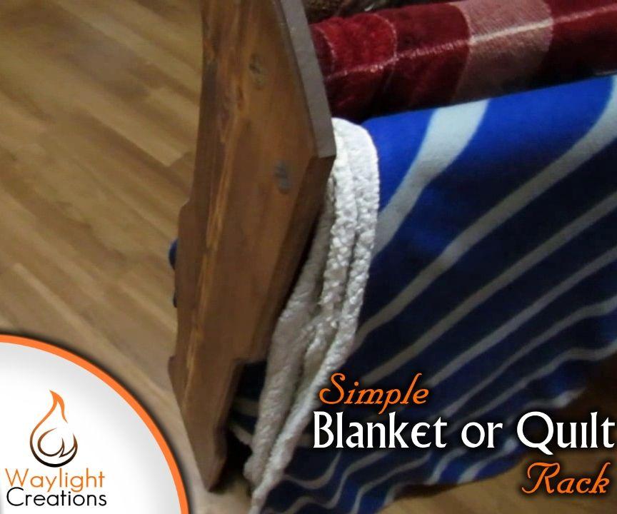 Simple DIY Blanket or Quilt Rack