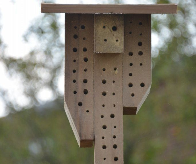 Pallet + Vintage Post = How to Make a Bee House