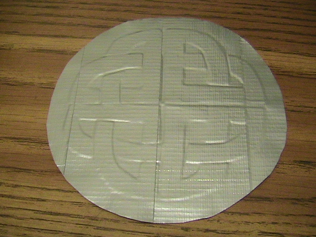 Embossing Designs Into Duct Tape