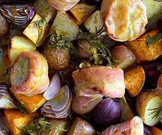 Sheet Pan Mustard and Honey Marinated Pork Tenderloin With Veggies