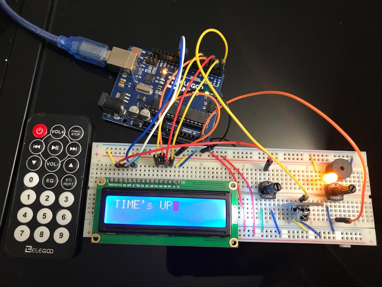 Remote Control Countdown Timer Via Arduino