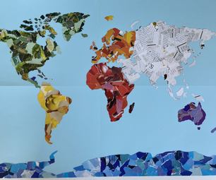 Recycled Magazine Map