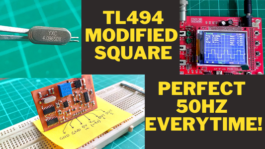 TL494 Working With a Crystal || Generate Perfect 50Hz Modified Square Waves